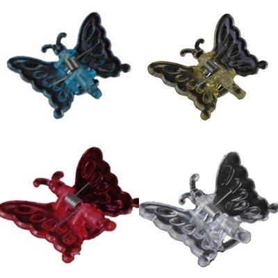 Deco Vlinderclip diverse kleuren